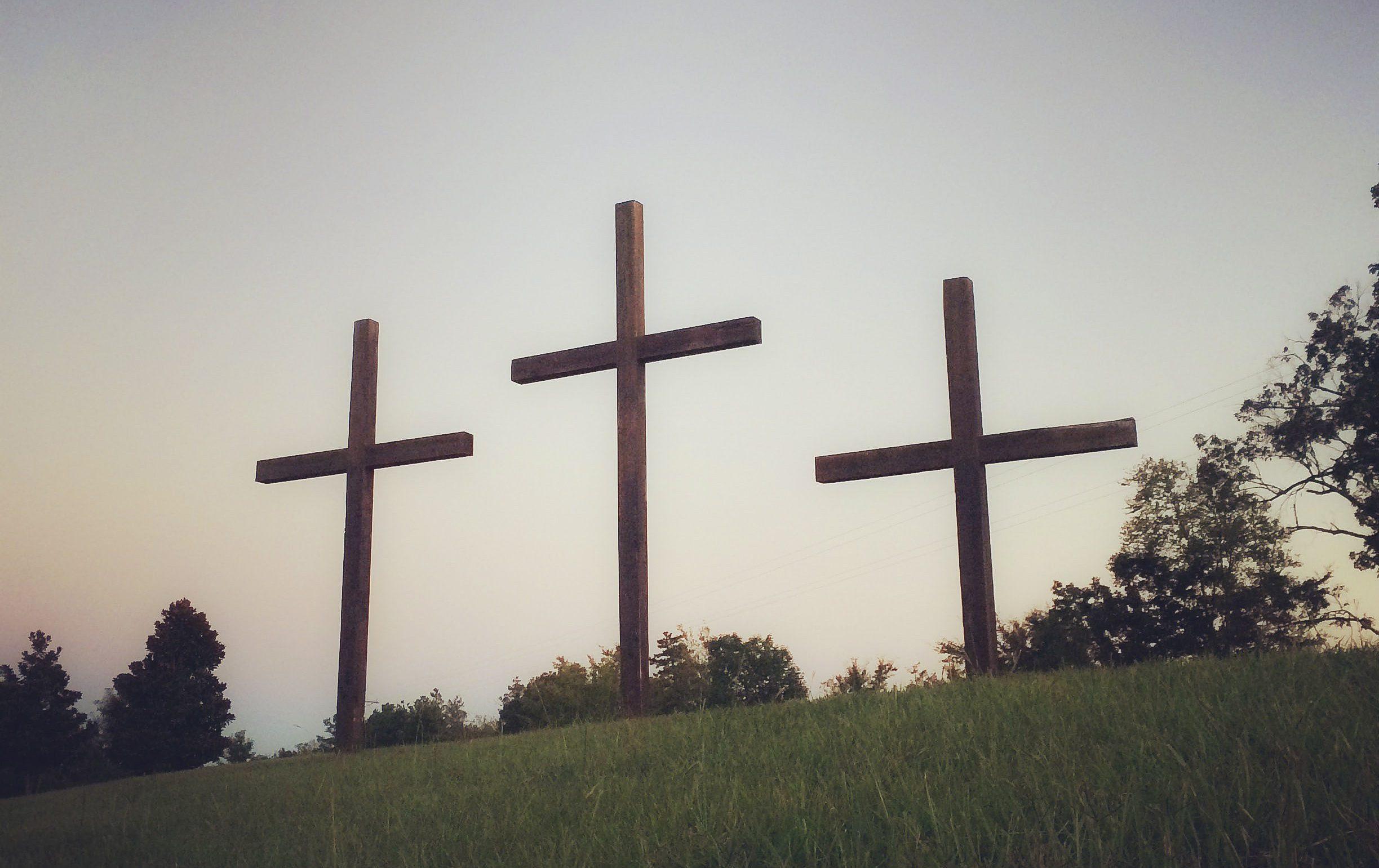 croix jésus terre ciel claire libre